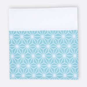 KraftKids Stilltuch weiße Diamante auf Pastel Blau