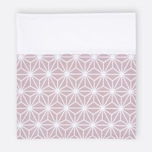 KraftKids Stilltuch weiße Diamante auf Cameo Rosa