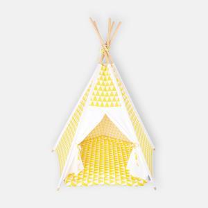 KraftKids Spielzelt Tipi gelbe Dreiecke ohne Spielmatte