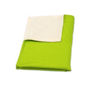 KraftKids Babydecke weiße Punkte auf Grün