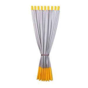 KraftKids Gardinen weiße Punkte auf Gelb und weiße Punkte auf Grau Länge: 230 cm