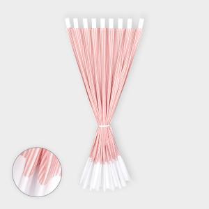 KraftKids Gardinen Uniweiss und Streifen rosa Länge: 230 cm