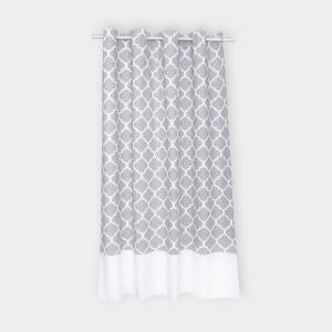 KraftKids Gardinen marokkanisches Klee grau Länge: 230 cm