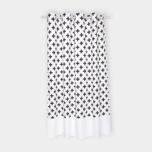 KraftKids Gardinen Uniweiss und schwarze Pluszeichen Länge: 230 cm