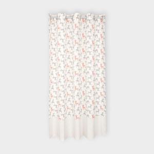 KraftKids Gardinen kleine Rehkitze grau orange auf Weiß Länge: 230 cm