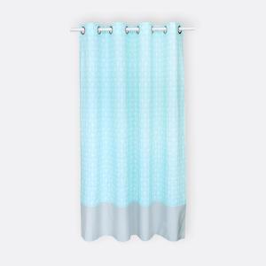 KraftKids Gardinen weiße Pfeile auf Mint und Unigrau Länge: 230 cm