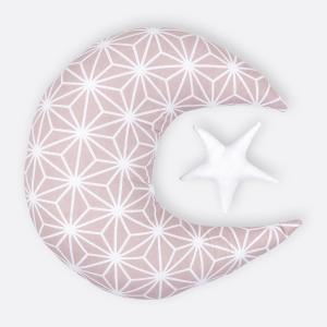 KraftKids Dekoration Mond und Stern weiße Diamante auf Cameo Rosa