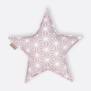 KraftKids Sternkissen weiße Diamante auf Cameo Rosa