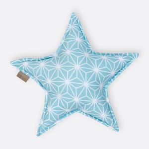 KraftKids Dekoration Sternkissen weiße Diamante auf Pastel Blau