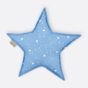 KraftKids Sternkissen abgerundete Dreiecke weiß auf Blau
