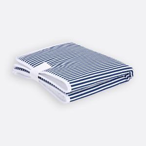 KraftKids Reisewickelunterlage Streifen dunkelblau 3 Lagen wasserundurchlässig weich Frotte 100% Baumwolle