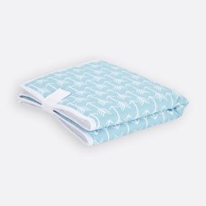KraftKids Reisewickelunterlage weiße Pfeile auf Blau 3 Lagen wasserundurchlässig weich Frotte 100% Baumwolle