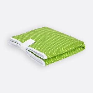 KraftKids Reisewickelunterlage weiße Punkte auf Grün 3 Lagen wasserundurchlässig weich Frotte 100% Baumwolle