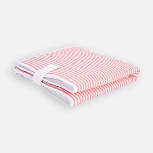 KraftKids Reisewickelunterlage Streifen rosa 3 Lagen wasserundurchlässig weich Frotte 100% Baumwolle