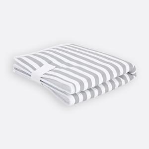 KraftKids Reisewickelunterlage dicke Streifen grau 3 Lagen wasserundurchlässig weich Frotte 100% Baumwolle