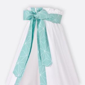 KraftKids Betthimmel weiße dünne Diamante auf Mint