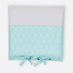 KraftKids Bezug für Wickeltischauflage weiße dünne Diamante auf Mint