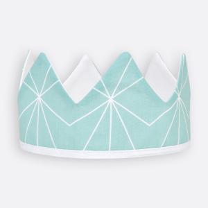 KraftKids Stoffkrone weiße dünne Diamante auf Mint