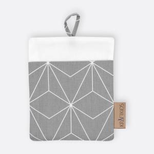 KraftKids Waschlappen weiße dünne Diamante auf Grau