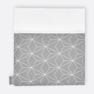 KraftKids Stilltuch weiße dünne Diamante auf Grau