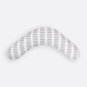 KraftKids qualitäts Stillkissen graue Striche auf Weiß mit Micro-EPS-Perlen mit TOXPROOF-ZERTIFIKAT des TÜV-Rheinland