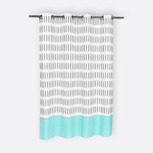 KraftKids Gardinen graue Striche auf Weiß Länge: 170 cm
