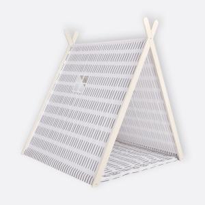 KraftKids Spielzelt graue Striche auf Weiß