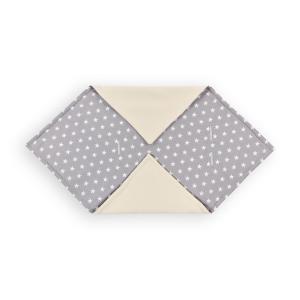 KraftKids Einschlagdecke für Babyschale Winter kleine weiße Sterne auf Grau