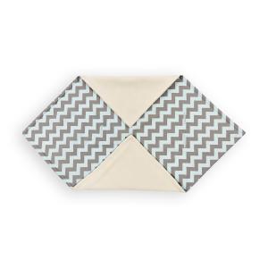 KraftKids Einschlagdecke für Babyschale Winter Chevron hellgrau und mint