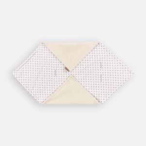 KraftKids Einschlagdecke für Babyschale Winter graue Punkte auf Weiss