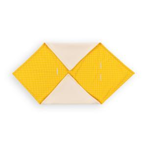 KraftKids Einschlagdecke für Babyschale Winter weiße Punkte auf Gelb