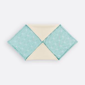 KraftKids Decke für Babyschale Winter weiße dünne Diamante auf Mint