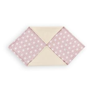 KraftKids Einschlagdecke für Babyschale weiße Diamante auf Cameo Rosa
