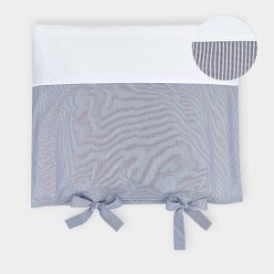 KraftKids Bezug für Wickeltischauflage dünne Streifen dunkelblau