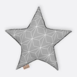 KraftKids Dekoration Sternkissen weiße dünne Diamante auf Grau