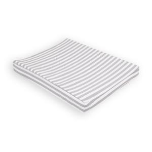 KraftKids Bezug für Keilwickelauflage dicke Streifen grau