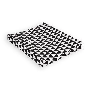 KraftKids Bezug für Keilwickelauflage schwarze Dreiecke