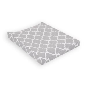 KraftKids Bezug für Keilwickelauflage marokkanisches Klee grau