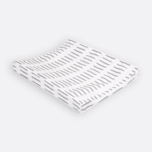 KraftKids Bezug für Keilwickelauflage graue Striche auf Weiß