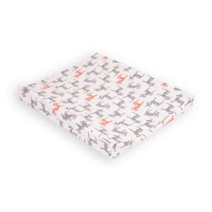 KraftKids Bezug für Keilwickelauflage kleine Rehkitze grau orange auf Weiß