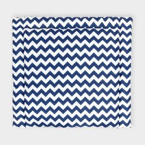 KraftKids Wickelauflage Chevron dunkelblau breit 75 x tief 70 cm
