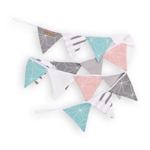 KraftKids Dekoration Wimpelkette weiße dünne Diamante