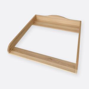 KraftKids Wickelaufsatz Qualität Buche Holz Natur passend für HEMNES Kommode