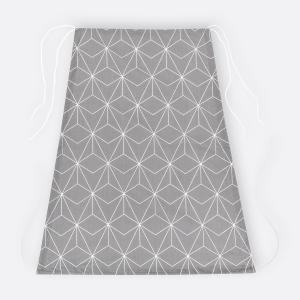 KraftKids Sonnensegel weiße dünne Diamante auf Grau