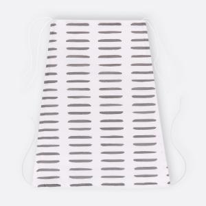 KraftKids Sonnensegel graue Striche auf Weiß