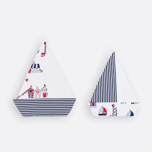 KraftKids Dekoration Segelboot Strandhäuschen