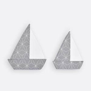 KraftKids Segelboot weiße dünne Diamante auf Grau
