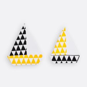 KraftKids Segelboot gelbe Dreiecke