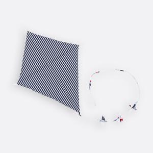 KraftKids Dekoration Luftdrache Streifen dunkelblau