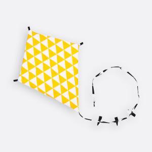 KraftKids Dekoration Luftdrache gelbe Dreiecke